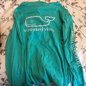 Teal vineyard vine hoodie